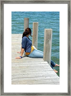 Framed Print featuring the photograph Dipping Toes by Tamyra Crossley