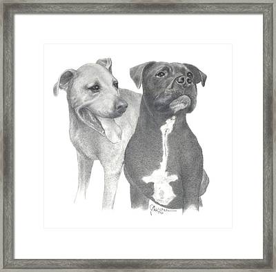 Dippy And Muggs Framed Print
