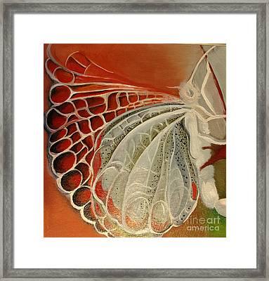 Diptique Butterflies In Work Framed Print