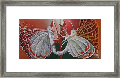 Diptych-double Canvas Framed Print