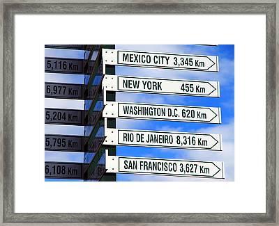 Direction Signs Framed Print
