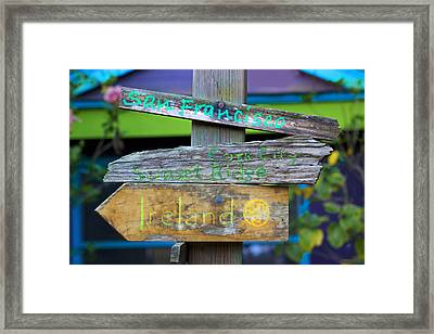 Directions In Life Framed Print