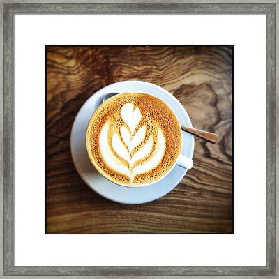 Directly Above Shot Of Coffee On Table Framed Print by André Krüger / Eyeem