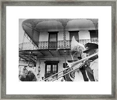 Dirge For Bourbon House Framed Print by Underwood Archives