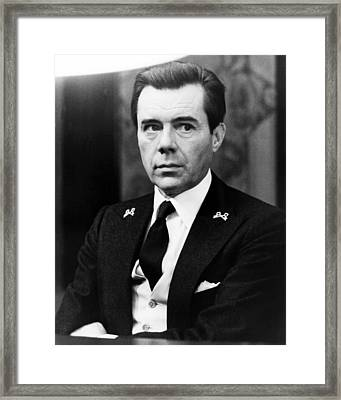 Dirk Bogarde In Il Portiere Di Notte  Framed Print by Silver Screen