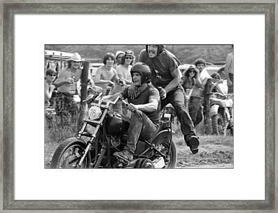 Dirt Drag Rodeo Framed Print