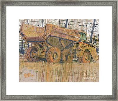 Dirt Mover Framed Print by Donald Maier