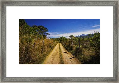 Dirt Road Framed Print by Aged Pixel