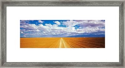 Dirt Road Amboseli Kenya Framed Print by Panoramic Images