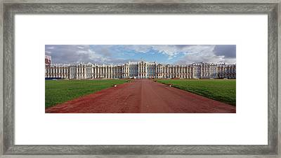 Dirt Road Leading To A Palace Framed Print by Panoramic Images