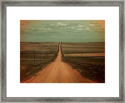 Dirt Road Framed Print by Leland D Howard