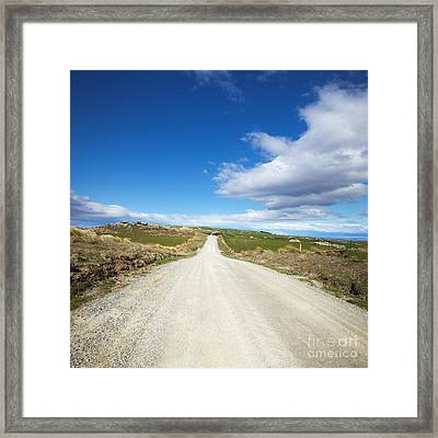 Dirt Road Otago New Zealand Framed Print
