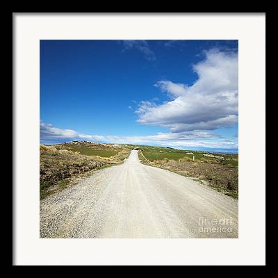 Country Dirt Roads Framed Prints