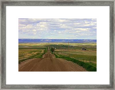 Dirt Road To Forever Framed Print