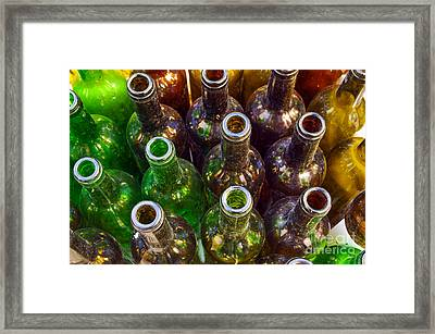 Dirty Bottles Framed Print
