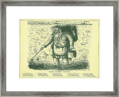 Dirty Father Thames Framed Print