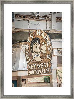 Dirty Harry's Key West - Hdr Style Framed Print by Ian Monk