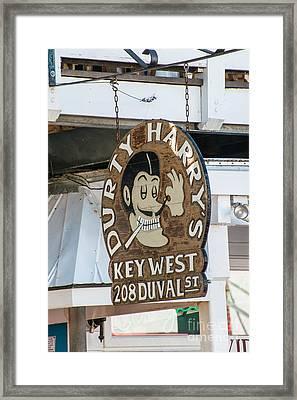 Dirty Harry's Key West  Framed Print by Ian Monk
