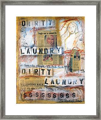 Dirty Laundry Framed Print