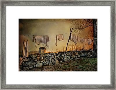 Linen On The Line Framed Print