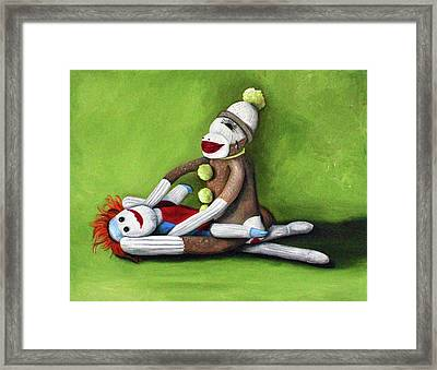Dirty Socks Framed Print