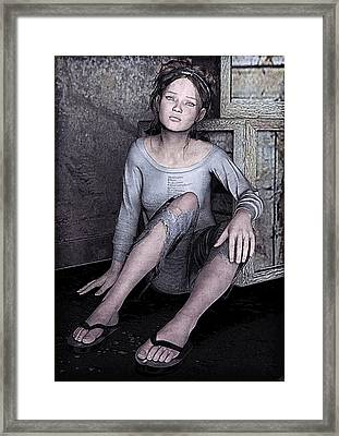 Dirty Streets Framed Print by Maynard Ellis
