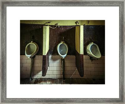 Dirty Urinals Framed Print