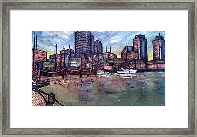 Dirty Water Framed Print by Michael Schimank