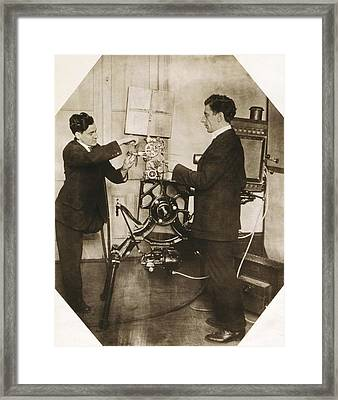Disabled Film Projectionist, 1919 Framed Print by Science Photo Library