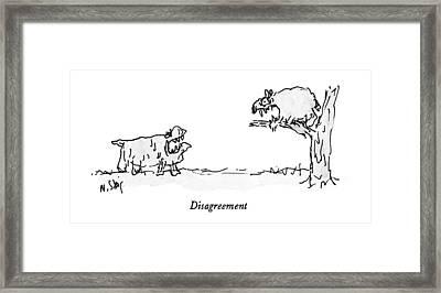 Disagreement Framed Print
