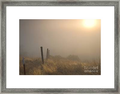Disapearing Framed Print by Mike  Dawson