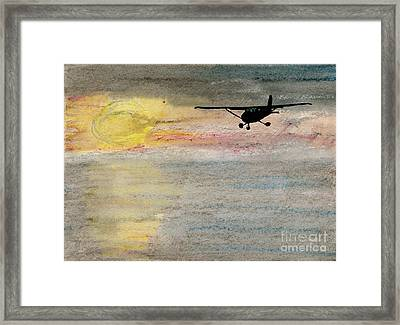Disappearing Horizon Framed Print