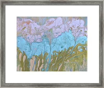 Disappearing In The Mist Framed Print by Donna Blackhall