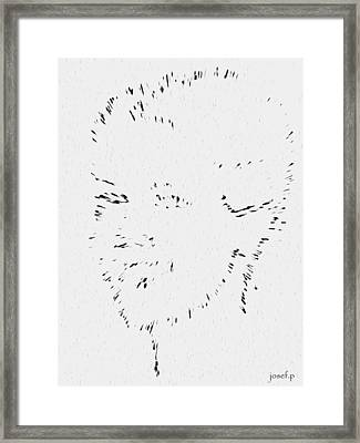 Disappearing Memories Of Her Framed Print by Sir Josef - Social Critic -  Maha Art