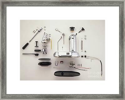 Disassembled Espresso Machine Framed Print by Dave King / Dorling Kindersley / Pavoni SPA