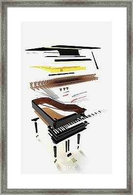 Disassembled Parts Of A Grand Piano Framed Print by Dorling Kindersley/uig