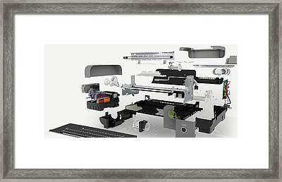 Disassembled Parts Of An Inkjet Printer Framed Print by Dorling Kindersley/uig