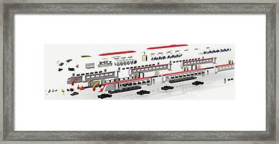 Disassembled Parts Of High-speed Train Framed Print by Dorling Kindersley/uig