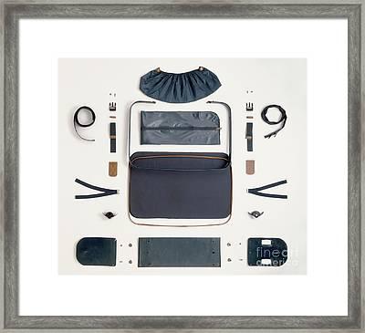 Disassembled Suitcase Framed Print by Dave King / Dorling Kindersley / Carlton UK Ltd