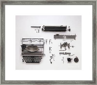 Disassembled Typewriter Framed Print by Dave King / Dorling Kindersley / Allens Typewriters Ltd