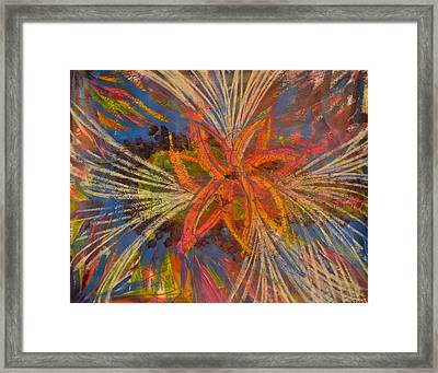 Disaster Framed Print by Leah Chyma