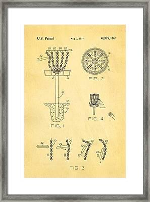 Disc Golf - Frisbee Golf Patent Art 1977 Framed Print by Ian Monk
