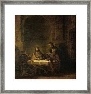 Disciples At Emmaus Framed Print