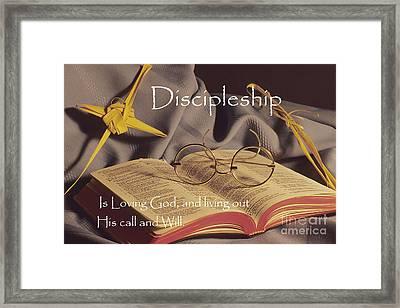 Discipleship Framed Print