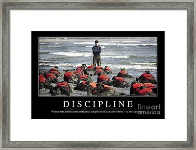Discipline Inspirational Quote Framed Print by Stocktrek Images