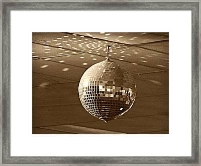 Disco Ball Framed Print