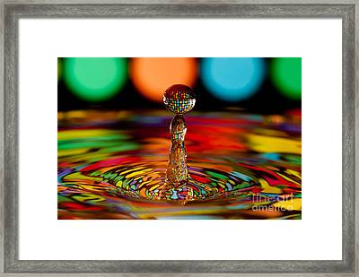 Disco Ball Drop Framed Print