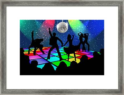 Framed Print featuring the digital art Disco Fever by Nina Bradica