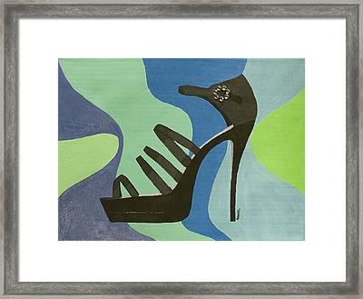 Disco Stiletto Framed Print by Annabel Harrison