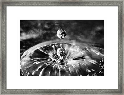 Framed Print featuring the photograph Disco Water Drop by Arkady Kunysz